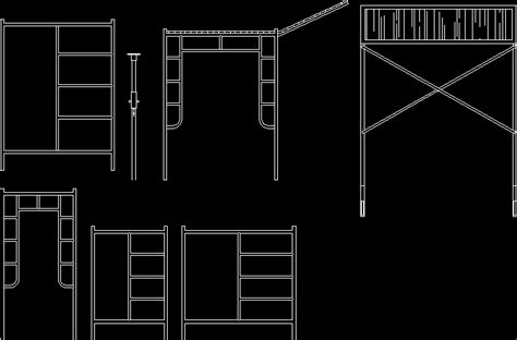 Scaffolds Work In Autocad Download Cad Free 4834 Kb