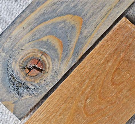 weathered pine stain    wait decades