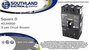 Square D Kcl34200  200 Amp  480 Volt  3 Pole Circuit