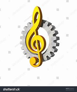 Note Key And Gearwheel On White Background - Industrial ...