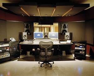 Modern professional recording studio native home garden