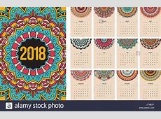 2018 Calendar Stock Vector Images Alamy