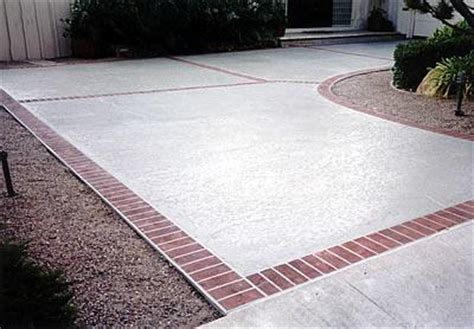 concrete with brick border thread salted concrete for