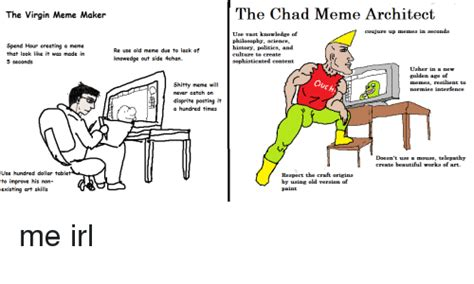Chad Memes - the virgin meme maker the chad meme architect coujure up memes in seconds spend hour creating a