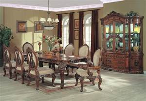 Country Dining Room Sets Country Dining Room Set Formal Dining Collection With Carved Leg Table Chairs And China