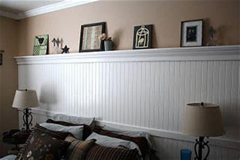 Beadboard wall with shelf   Bedroom   Pinterest   Basement