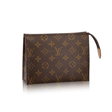 louis vuitton brown monogram toiletry  cosmetic bag