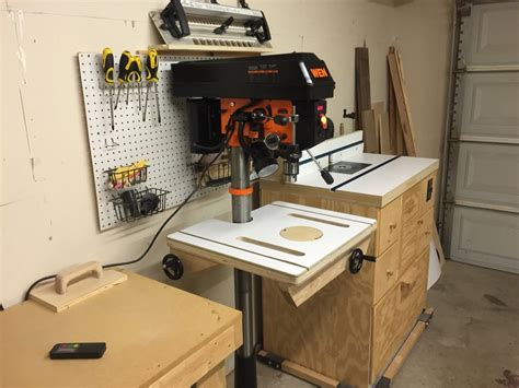 drill press table  fence  txn  lumberjockscom woodworking community