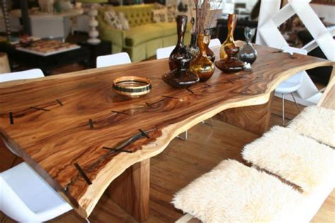 table cuisine bois brut roomservicestore com the eco dining table made from acacia tree wood