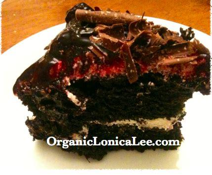 organic lonica lee vegan chocolate cherry cake