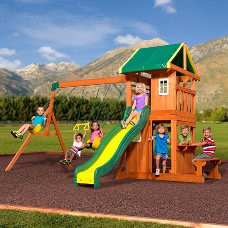 Backyard Play Set - backyard discovery oakmont cedar wooden swing set