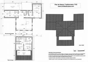 telecharger plan maison traditionnelle plan niveaux With plan maison 2 niveaux 3 plan de maison traditionnelle villa t5darchitecte 163