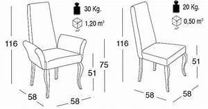Dimension Chaise Standard : chaise fauteuil apolo r f mobilier salle manger chaises espace po le scandinave ~ Melissatoandfro.com Idées de Décoration