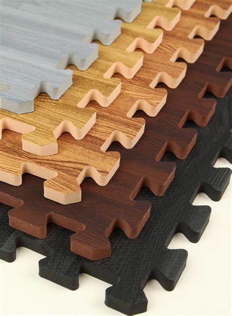 interlocking faux wood puzzle mats much nicer in a kid s playroom then those bright ones they