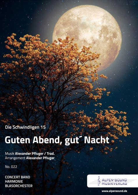 guten abend gut nacht alpen sound musikverlag