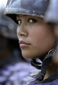 Nepalese Female Soldier Image