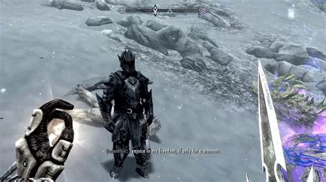 Skyrim Ebony Warrior Defeated (mehrunes Razor) Youtube