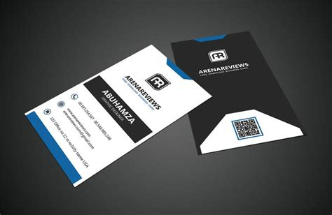 black white vertical business card standard template