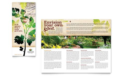 Tree Service Tri Fold Brochure Template Word Publisher Landscape Design Tri Fold Brochure Template Word Publisher