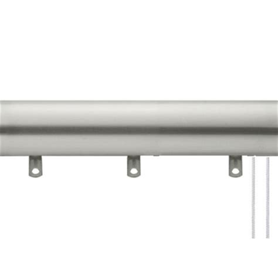 kirsch designer metals smooth traverse rod with plain