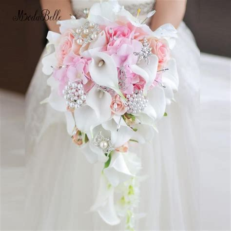 modabelle western style wedding bouquet  brides crystal
