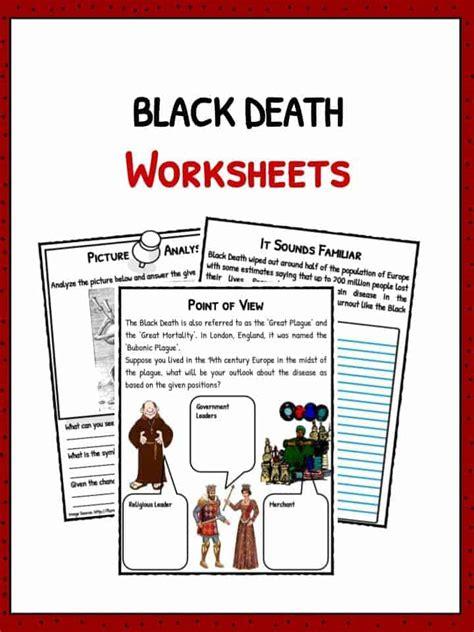 black death facts history worksheets  kids