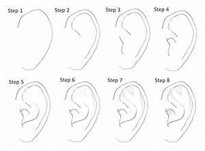drawing manga ears step by step | Desenhos (tutoriais ...
