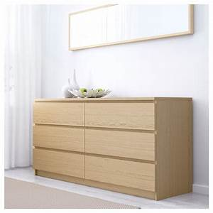 Ikea Wickelkommode Malm : malm chest of 6 drawers white stained oak veneer 160 x 78 cm ikea ~ Frokenaadalensverden.com Haus und Dekorationen
