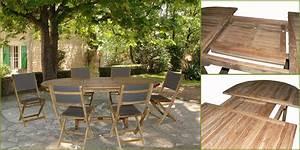 Table En Teck Jardin : salon de jardin en teck alpilles avec 1 table 150 210cm ~ Melissatoandfro.com Idées de Décoration