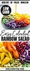 Colorful Rainbow Salad Recipe + Pomegranate Vinaigrette ...