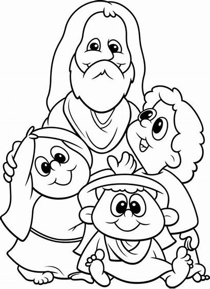 Jesus Coloring Children Loves Pages Child Printable