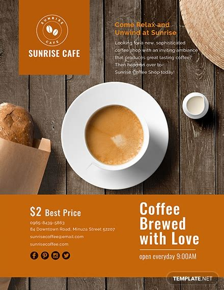 cafe flyer template   flyers  psd