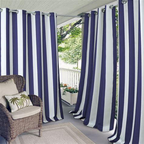 Waterproof Drapes - elrene home fashions indoor outdoor patio gazebo pergola