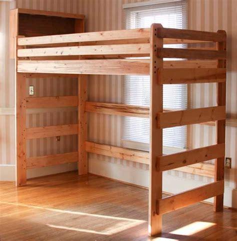 loft bed built  plans  bunk beds unlimited extra