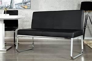 Sitzbank Mit Rückenlehne 120 Cm : design sitzbank mit r ckenlehne schwarz riess ~ Bigdaddyawards.com Haus und Dekorationen