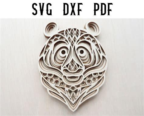 Free svg image & icon. Panda Layered Mandala Laser Cut File - SVG / DXF (1125813 ...