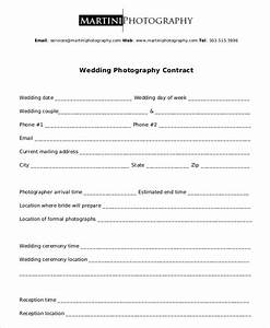 Photography contract example 11 free word pdf documents for Simple wedding photography contract template
