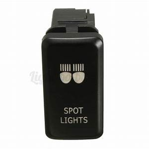 12v Push Green Led Spot Light Switch For Toyota