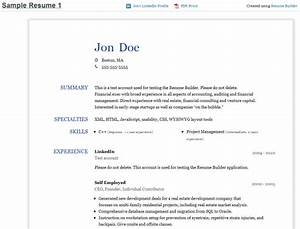 resume builder faire un cv avec son profil sur linkedin With resume builder for linkedin