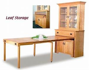pull out dining table Mission Pullout Console Table with