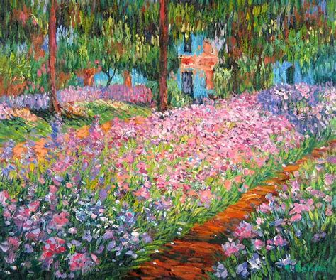 art artist s garden at giverny by claude monet