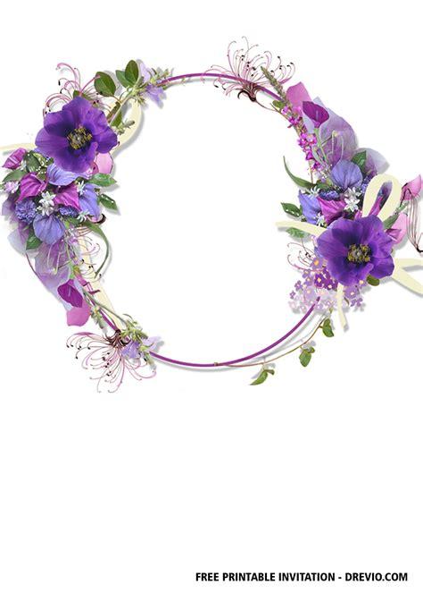 FREE Geometric Floral Invitation Templates FREE