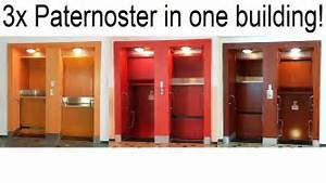 3x Paternoster Lift in 1 Building! - YouTube  Paternoster