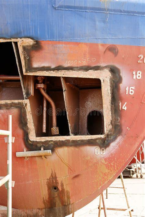 Steel Boat Rust Repair by Hull Repair Stock Photo Image Of Piping Yard Cutting