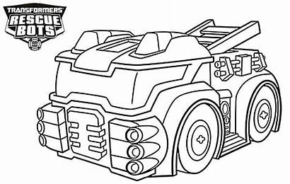 Rescue Bots Coloring Bot Transformers Heatwave Colouring