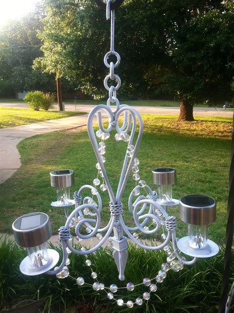 backyard elegance with an outdoor chandelier on the go