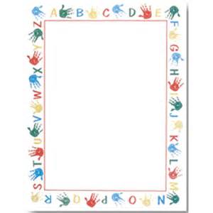 Alphabet Border Handprints Teacher Kids Laser Amp Inkjet ...