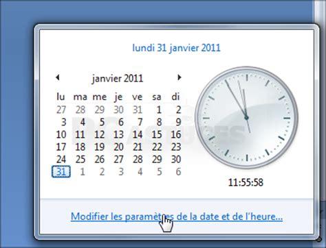 afficher horloge sur bureau comment afficher l horloge sur le bureau windows 7