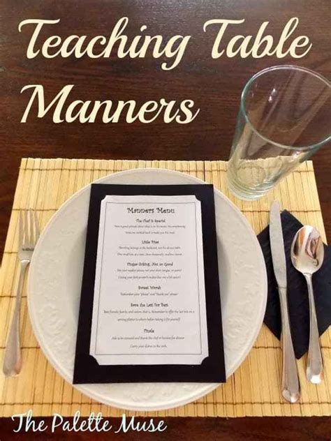 teaching table manners  palette muse