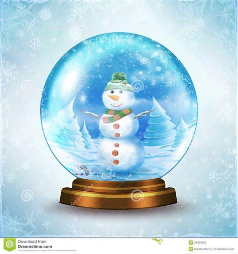 snow globe stock illustration illustration